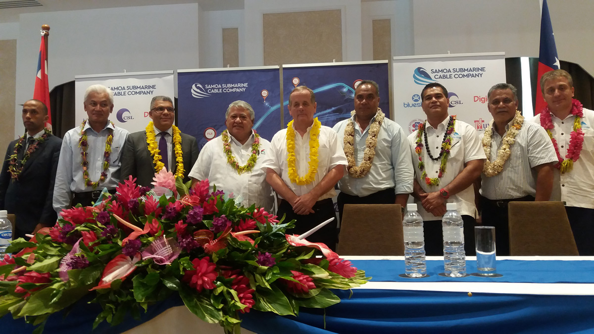 Signing Ceremony between Samoa and the Territory of Wallis and Futuna.